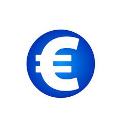 euro sign con vector image