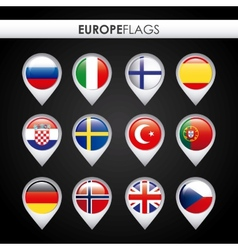 europe flags design vector image vector image