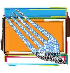 Fork design vector image vector image