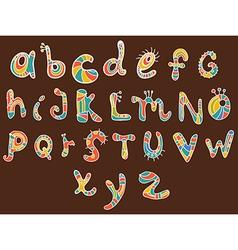 funny color Alphabet vector image vector image