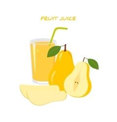 Natural Fresh Pear Juice vector image