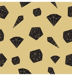 Seamless pattern crystal geometric crystals vector image