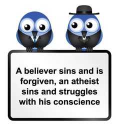 SIGN ATHIEST TWO vector image
