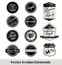 design elements for web vector image vector image