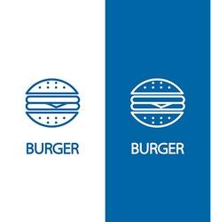 Fastfood sign for cafe or restaurant Burger or vector image vector image