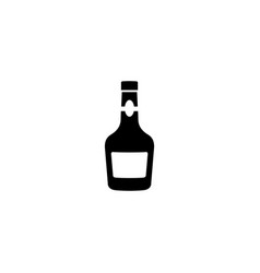 glass bottle of alcohol drink vector image