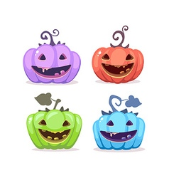 halloween of collection decorative colorful vector image vector image