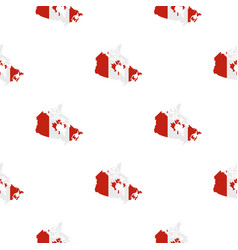 map of canada in national flag colors pattern vector image