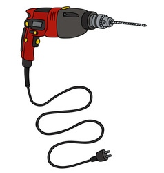 Red impact drill vector image