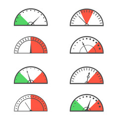 speedometer icon set vector image