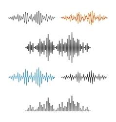 Waveform Shape Soundwave Audio Wave Graph Set vector image vector image