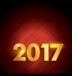 2017 text on red luxury background for happy new vector