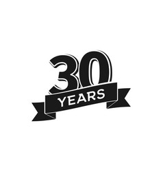 30 years anniversary logotype isolated vector