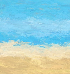 Abstract painted beach landscape 1406 vector