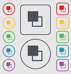 Active color toolbar icon sign symbol on the Round vector