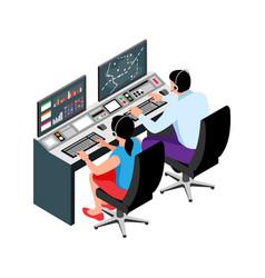 Air traffic controller icon vector