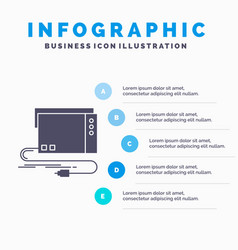 Audio card external interface sound infographics vector