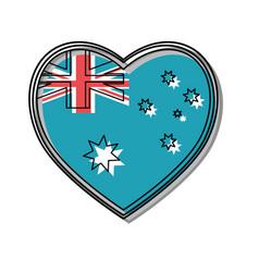 australia flag design vector image