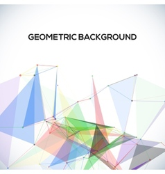background with polygonal abstract shapes circles vector image vector image