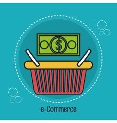 basket e-commerce shop online design vector image