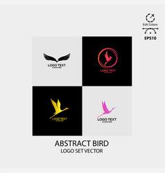 bird logo design simple minimalist vector image