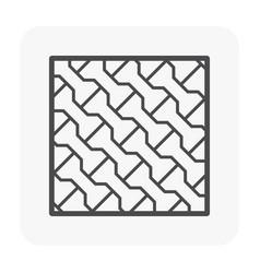 Brick floor icon vector