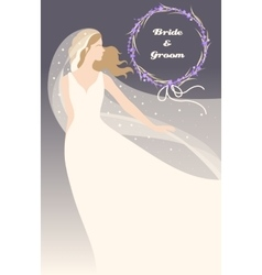 Bride with lavender vector