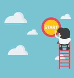 Business concept young businessman climbing a vector