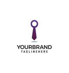 business tie logo template vector image