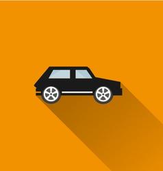 Car icon 9 long shadow vector image vector image