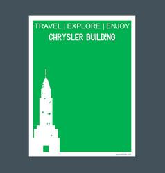 chrysler building manhattan new york monument vector image