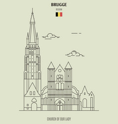 Church of our lady in brugge vector