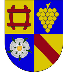 coat of arms of rastatt in baden-wuerttemberg vector image