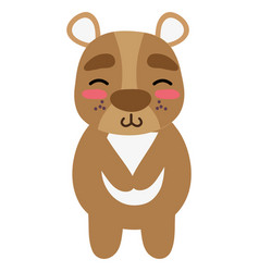 Colorful cute and shy bear wild animal vector