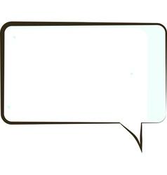 comic book speech bubble symbol vector image