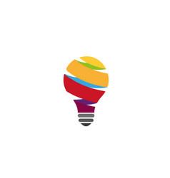 Creative colorful spiral idea logo vector
