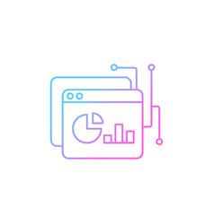 Data intelligence platform gradient linear icon vector