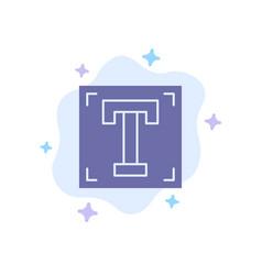 Designer font path program text blue icon on vector