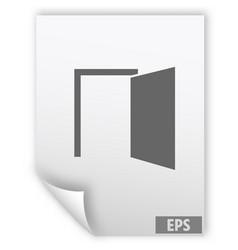 door icon vector image