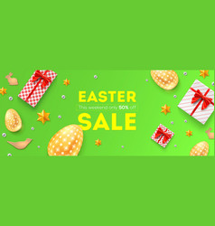 easter sale 50 percent off holiday offer huge vector image