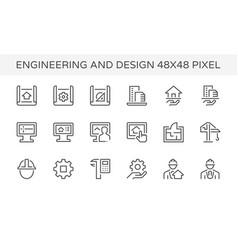 engineering architecture design icon vector image