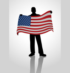 flag holder vector image