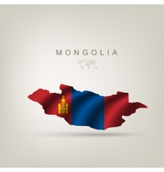 flag mongolia as a country vector image