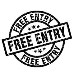 Free entry round grunge black stamp vector