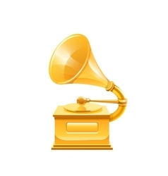 Gold gramophone vector