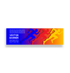 gradient banner with running man vector image