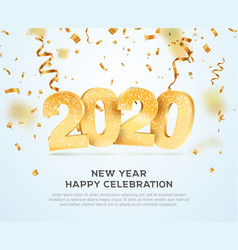 Happy new year 2020 celebrating vector