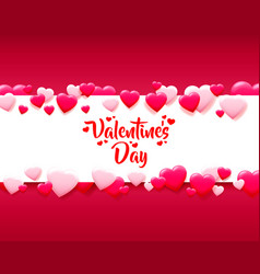 Happy valentines day greeting postcard a pink vector