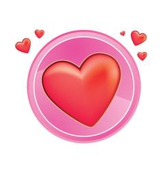 heart pin vector image