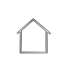 house icon hand drawn outline doodle icon vector image